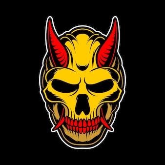 Goldener dämonenkopf