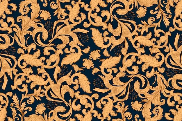 Goldener dekorativer blumenhintergrund