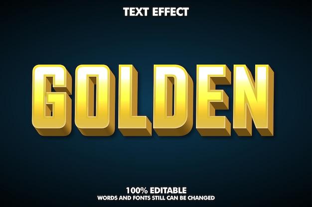 Goldener effekt des textes 3d für modernes design