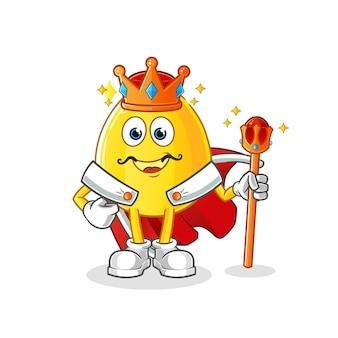 Goldener eierkönig. zeichentrickfigur