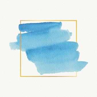 Goldener einfacher rahmen des aquarellflecks