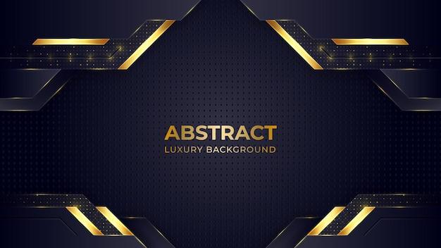 Goldener farbverlauf-luxushintergrund mit geometrischen formen.