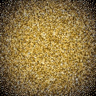 Goldener farbverlauf mit vereinzelten scheinen