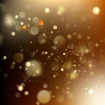 Goldener feiertag glühender hintergrund des weihnachtsfestes.