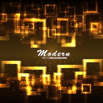 Goldener Flamme quadratischen Hintergrund