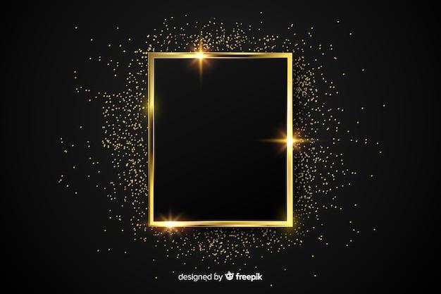 Goldener funkelnder rahmenluxushintergrund