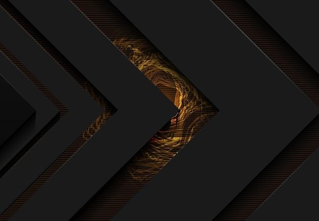 Goldener funkelnder ring mit goldenem glitzer auf schwarzem hintergrund isoliert