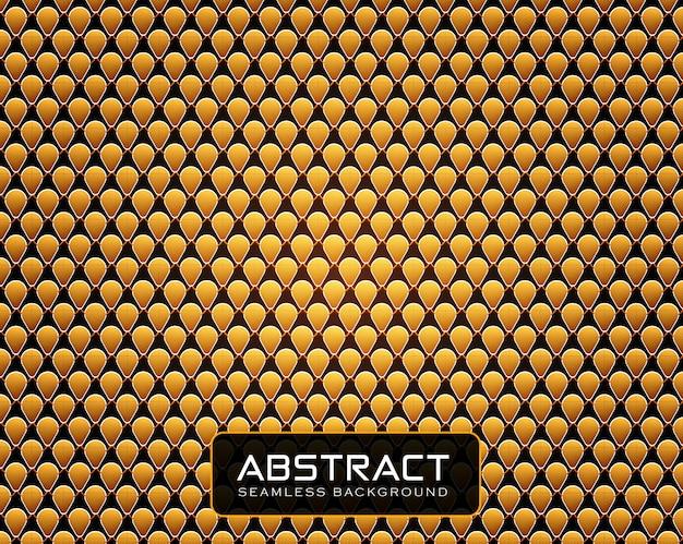 Goldener geometrischer hintergrund mit hoher detailbeschaffenheit in allen formen