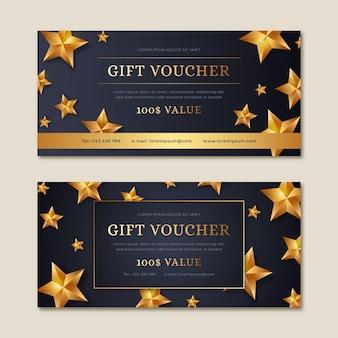 Goldener geschenkgutschein mit 100% wert