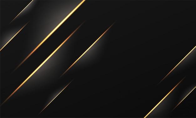 Goldener gestreifter abstrakter hintergrund mit lichteffekt.