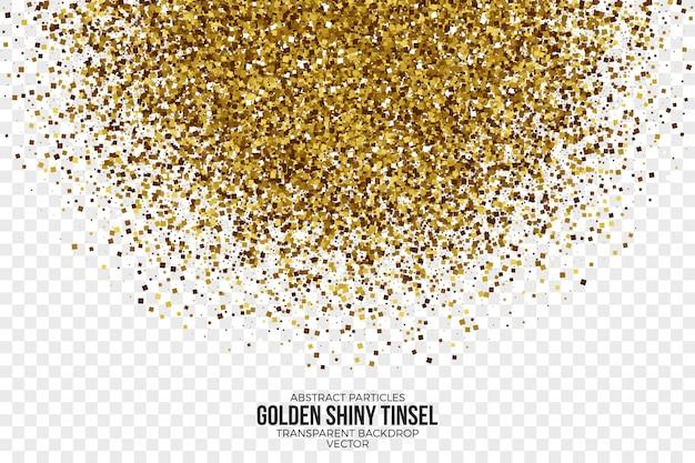 Goldener glänzender lametta-zusammenfassungs-vektor-hintergrund