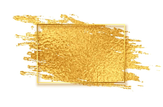 Goldener glänzender pinselstrich-texturhintergrund