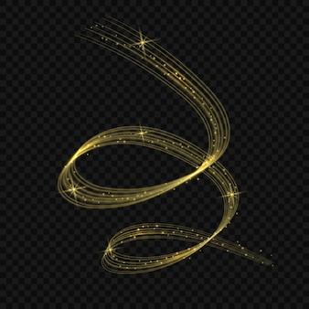 Goldener glänzender strudel