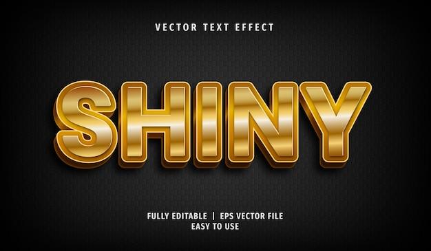 Goldener glänzender texteffekt 3d, bearbeitbarer textstil