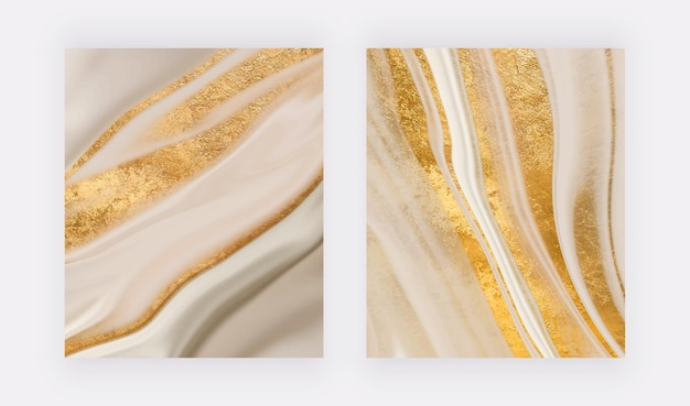 Goldener glitzer flüssiger marmor wandkunstdrucke abstrakte vektorhintergründe