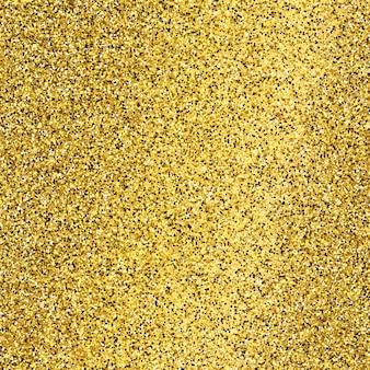 Goldener glitzernder hintergrund mit goldfunkeln und glitzereffekt. leerer platz für ihren text. vektor-illustration