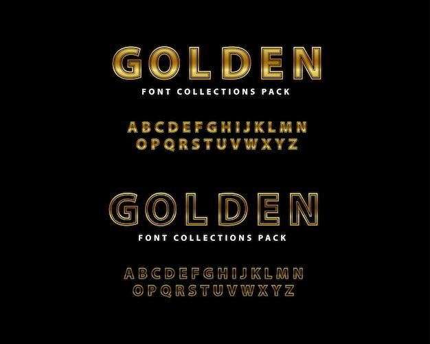 Goldener guss-luxus-satz