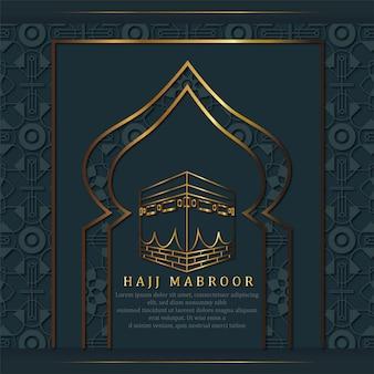 Goldener hadsch-mabroor-stil mit luxuriösem islamischem muster