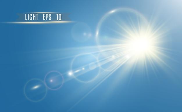 Goldener heller stern lichteffekt heller stern schönes licht zur veranschaulichung