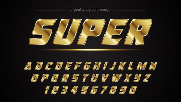 Goldener heller typografie-entwurf