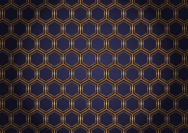 Goldener hexagonhintergrund
