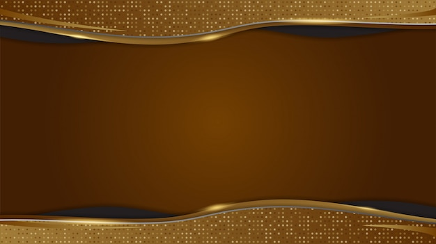 Goldener hintergrund mit abstrakten geometrischen formen