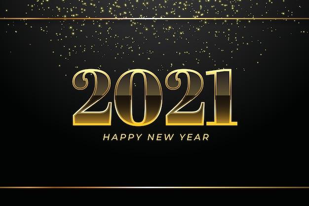 Goldener hintergrund neujahr 2021