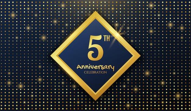 Goldener hintergrund zum 5-jährigen jubiläum