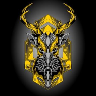 Goldener hirschkopf