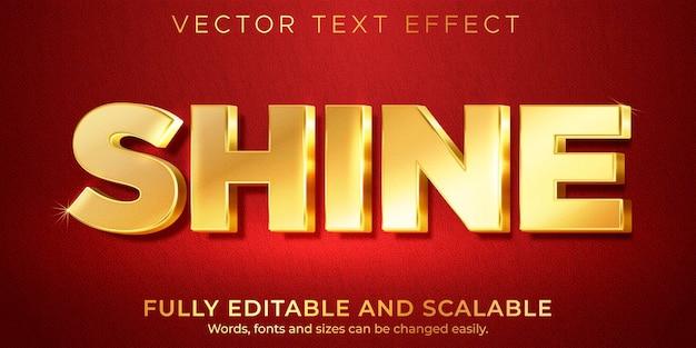 Goldener königlicher texteffekt, bearbeitbarer glänzender und reicher textstil