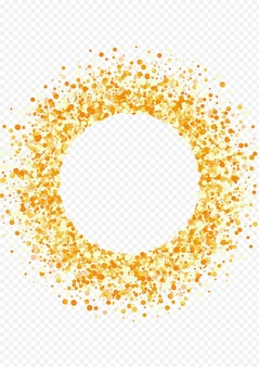 Goldener konfetti-rahmen