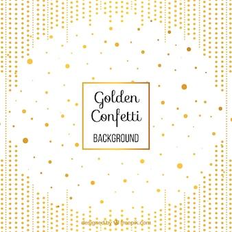 Goldener konfettihintergrund