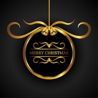 Goldener kreis-weihnachtsverzierung