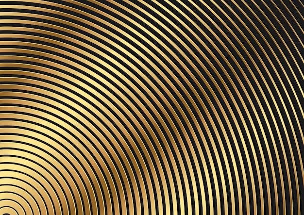 Goldener kreisförmiger gestreifter hintergrund