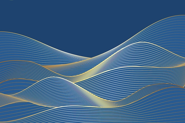 Goldener linearer hintergrund mit farbverlauf