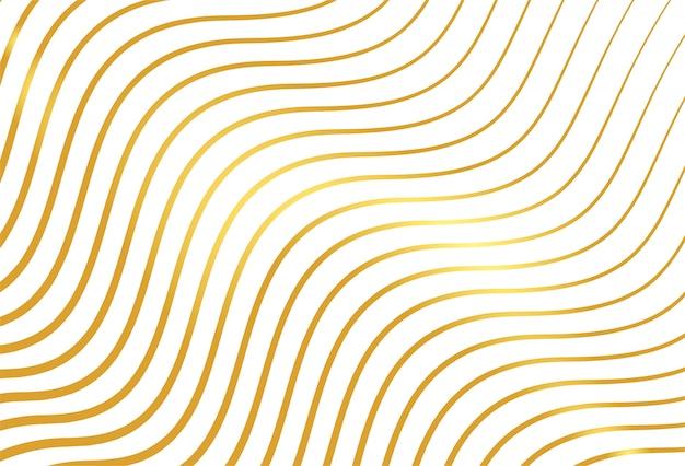Goldener linienmusterhintergrund
