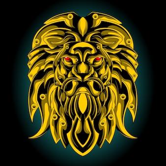 Goldener löwenkopf