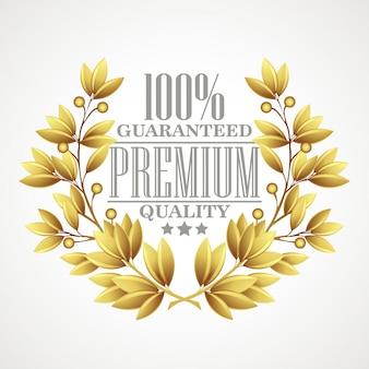Goldener lorbeerkranz in premiumqualität.