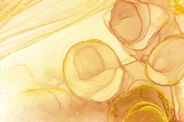 Goldener luxuriöser flüssiger hintergrund