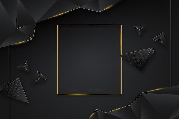 Goldener luxuriöser geometrischer hintergrund mit farbverlauf