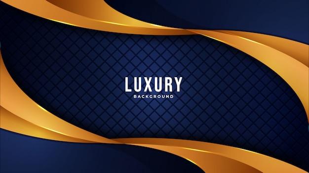 Goldener luxus moderner abstrakter hintergrund mit leuchtenden rosa punktlinien der kombination