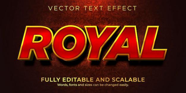 Goldener luxus-texteffekt bearbeitbarer glänzender und eleganter textstil Premium Vektoren
