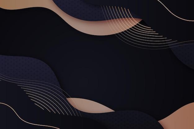 Goldener luxushintergrund mit farbverlauf mit linien