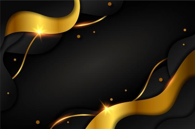 Goldener luxushintergrund mit farbverlauf