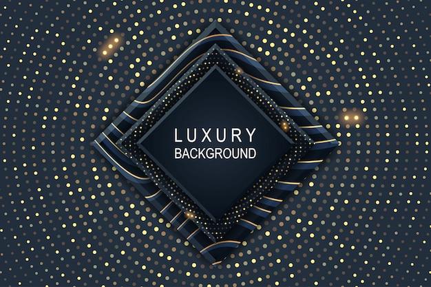 Goldener luxushintergrund mit glühendem halbtonmuster