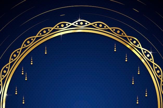 Goldener luxushintergrund mit tropfen und kopienraum
