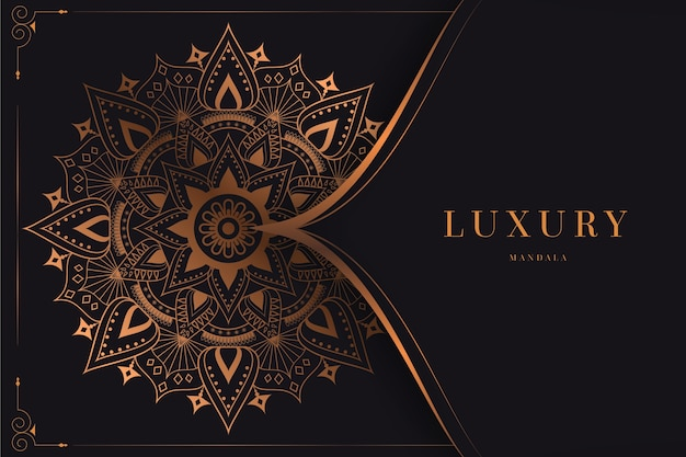 Goldener luxusmandalahintergrund