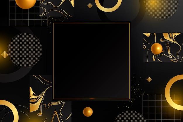 Goldener luxusrahmen mit farbverlauf