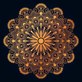 Goldener mandala-hintergrund des luxus mit goldenem arabesque arabischem islamischem oststil