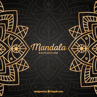 Goldener mandalahintergrund mit luxuriöser art
